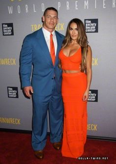 John Cena and Nikki Bella Trainwreck New York Premiere 2015
