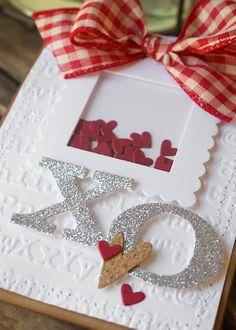 Sizzix Inspiration | Shaker Hearts Card by Hilary Kanwischer