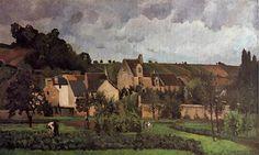 1867 Vistas de l'Hermitage en Pontoise. Realismo