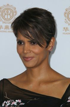 From my Stylebook Closet Halle Berry Haircut, Halle Berry Short Hair, Halle Berry Hairstyles, Short Sassy Hair, Cute Hairstyles For Short Hair, Pixie Hairstyles, Pixie Haircut, Short Hair Cuts, Short Hair Styles