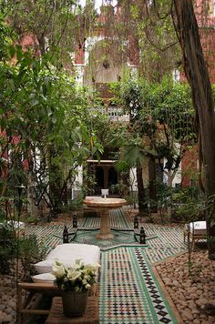 uncommonjones:  Riad Kaiss Courtyard by user  Menara, Marrakech, Morocco