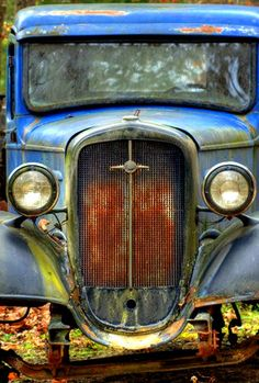I love photographing old vehicles in high contrast.
