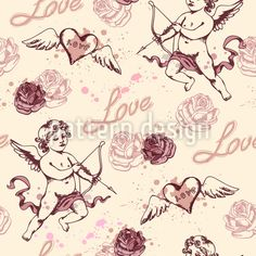 Find Vintage Seamless Pattern Cupid Valentines Day stock images in HD and millions of other royalty-free stock photos, illustrations and vectors in the Shutterstock collection. Thousands of new, high-quality pictures added every day. Vektor Muster, Valentine's Day Poster, Retro, Cupid, Vintage Images, Surface Design, Vector Free, Valentines Day, Royalty Free Stock Photos