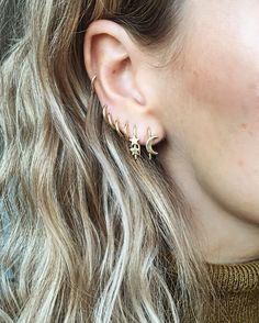 Double star & Lunar earring