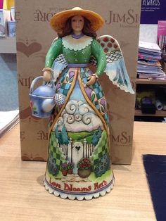 Jim Shore HWC Angel with Watering Can 'to Garden Is Heavenly' | eBay