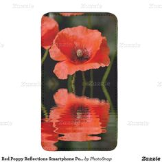 Red Poppy Reflections Smartphone Pouch Galaxy S5 Pouch