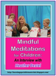 Learning Specialist and Teacher Materials - Good Sensory Learning: meditation