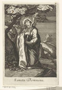 Boëtius Adamsz. Bolswert | Heilige Domnina van Syrië als kluizenares, Boëtius Adamsz. Bolswert, Abraham Bloemaert, Anonymous, 1590 - 1662 |