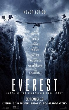 Everest from Movie Posters The true story about three climbing groups trapped on…