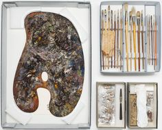 John Singer Sargent's palette. Harvard museum