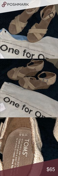 Toms Toms. Brand new with tags. Size 5.5 Toms Shoes Wedges