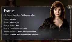 Esme Cullen- New Moon-The Cullens by hvyilnr, via Flickr
