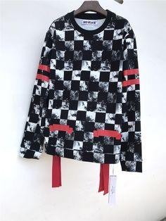 OFF BLACK CHECKER RED WHITE FW17 INK RIBBON STRIPE CREW NECK SWEATSHIRT    #trends #trendsetter #womensfashion #liketkit #weekendstyle #whatiwore #regram #hautelook #hautecouture #netaporter #projectrunway #parisfashionweek #streetwear #streetstyleluxe #luxestyle Sweat Shirt, Crew Neck Sweatshirt, Off Black, Off White, Weekend Style, White Outfits, Fashion Outfits, Womens Fashion, What I Wore