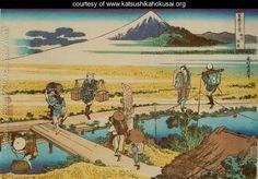 Nakahara in Sagami Province (Soshu Nakahara) - Katsushika Hokusai - www.katsushikahokusai.org