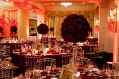 Awesome red wedding decor... may have to steal this! :P