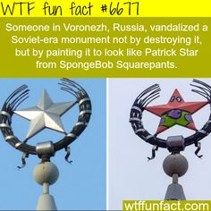 Man in Russia vandalized a Soviet-era monument - WTF fun fact