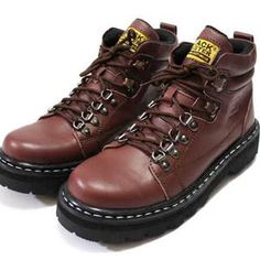 Sepatu Boots Kulit ( Black Master Hard Rock coklat )