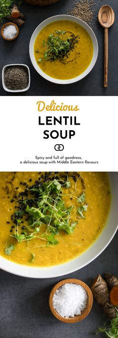 You really need to try this! Spicy and full of goodness, this is a delicious soup with Middle Eastern flavours! Cooking this lentil soup is so quick and easy, you'll love it!