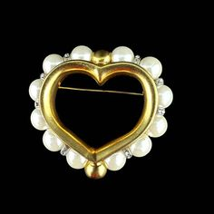 Crystal Brooch, Jewelry Case, Black Spot, Acrylic Beads, Hair Barrettes, Brooch Pin, Heart Shapes, Heart Ring, My Etsy Shop