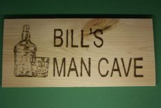 wooden sign custom man cave sign with personal name whisky drinker made by hand