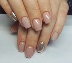 Nail ideas and inspiration. Nails looks including acrylic gel matte glitter and natural. Gold nails nail design and nail art. Summer nails and winter nails. Long and short nails. Nail shapes including almond tapered round stiletto square oval and squoval. Nail Color Trends, Nail Colors, Gold Nails, Pink Nails, Gold Glitter, Matte Nails, Squoval Acrylic Nails, Nail Shapes Squoval, Shellac