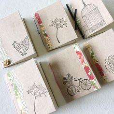 Little notebooks for Saturday's Open Studios