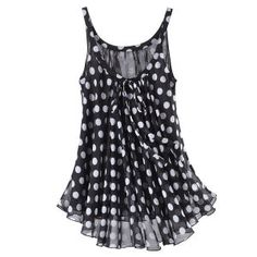 Lucy Polka Dot Top - New Age, Spiritual Gifts, Yoga, Wicca, Gothic, Reiki, Celtic, Crystal, Tarot at Pyramid Collection