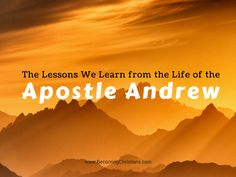 Though we read a few things about Andrew, it doesn't mean that we can't learn anything from his life. Here's a blog that lists 10 vital lessons from the life of Andrew, the Apostle.
