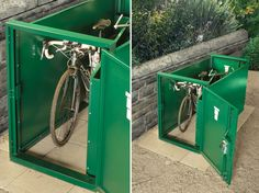Securely store your bike