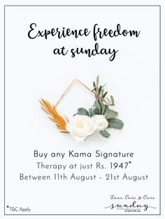 Celebrate freedom with Sunday! Kama signature services at just Rs. 1947. For reservations call : 7353572200 #70yearsOfFreeIndia #kamaSignature #sundayTheSpa #freedomOffer #independanceDay