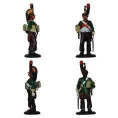 """Dragón del 4° Regimiento - Uniforme de campaña - 1810 - Francia (Colección """"Soldados de las Guerras Napoleónicas"""" editada por delPrado - 60 mm)"""