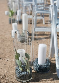 How TheKnot.com Editor Gets Married! ~~~ We love tis idea for a desert wedding.
