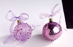 DIY - Handpainted Baubles - Decorate with a star motif and embellish with tiny beads and sequins.