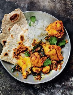 Cod Curry - a simple, fragrant curry with tumeric, coriander and coconut.