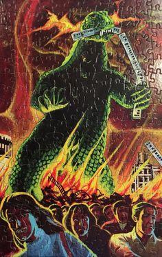 atomic-chronoscaph: Godzilla Jigsaw Puzzle (1977)