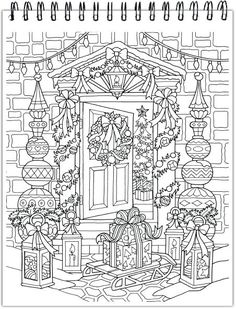 Cat and Books - Printable Adult Coloring Page from Favoreads (Coloring book pages for adults and kids, Coloring sheets, Coloring designs) Free Adult Coloring, Printable Adult Coloring Pages, Coloring Book Pages, Coloring Pages For Kids, Christmas Coloring Sheets, Theme Noel, Mandala Coloring, Christmas Colors, Recycled Clothing
