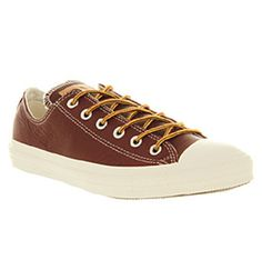 Converse All Star Leather Ox Low Oxblood Red Snow White Smu Excl Shoes Trainers