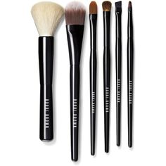 Bobbi Brown Classic Brush Collection (1,060 CNY) ❤ liked on Polyvore featuring beauty products, makeup, makeup tools, makeup brushes, blender brush, eyeshadow brushes, eyebrow kit, brow kit and makeup foundation brush
