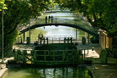 Quai de Jemmapes - this is a beautiful part of Paris off the tourist track and well worth a visit.