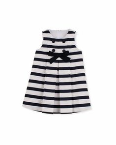 Blue Ribbon Bow Dress, Sizes 12-24 Months  by Florence Eiseman at Neiman Marcus.