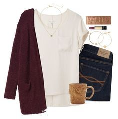 """""""obsessed with the colors of fall"""" by emmig02 ❤ liked on Polyvore featuring mode, Abercrombie & Fitch, rag & bone, Monki, Sur La Table, Kate Spade, Alex and Ani, Nashelle, Lancôme et Urban Decay"""