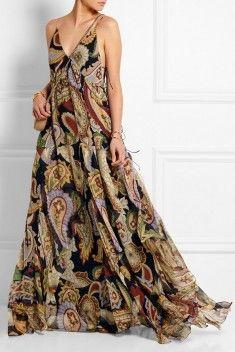 Robe longue folk Chloé