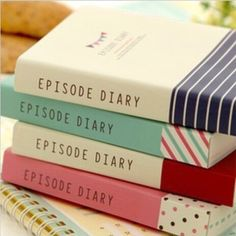 This unique Episode Colorful Thick Notebook Diary includes four varieties with preprinted messages and colorful animations on each page. Each diary contains 150 pages of an untold story. Purchase one
