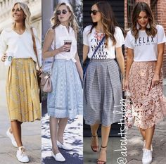 What you should wear to operate without perspiration to bits using your trip. - What you should wear to operate without perspiration to bits using your trip. Mode Outfits, Skirt Outfits, Casual Outfits, Midi Skirt Outfit Casual, Casual Skirts, Modest Fashion, Skirt Fashion, Fashion Outfits, Fashion Trends