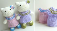 Crochet twin kittys @carol hinman  - maren would soooooo LOVE these, can you make for christmas??????!!!!