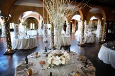 A beautiful wedding in the Ballroom - Photos done by Custo Photography - www.custophoto.com Wedding Venues, Wedding Ideas, Wedding Decorations, Table Decorations, Table Settings, Wedding Photography, Candles, Photos, Furniture