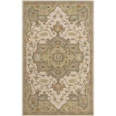 Demetrios Olive 12 ft. x 15 ft. Indoor Area Rug