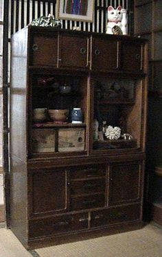 Japanese antique furniture, chest, TANSU  時代箪笥  和箪笥