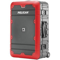 """Pelican 22"""" Carry-on Elite Progear Basic Luggage (gray With Red Trim)"""