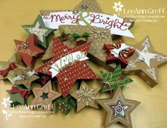 Many Merry Stars Kit from the Christmas Supplement. This is not even all the stars! Christmas Paper Crafts, Stampin Up Christmas, Merry Christmas, Christmas Decorations, Holiday Decor, Christmas Ideas, Stampin Up Many Merry Stars, Holiday 2014, Christmas Inspiration